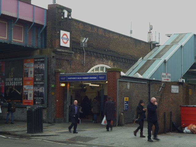 Shepherd's Bush Market Underground Station, Uxbridge Road W12