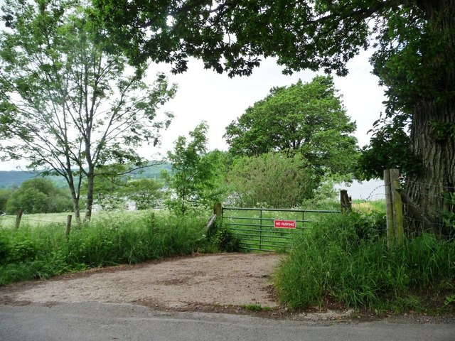 Gated campsite entrance, Ullswater