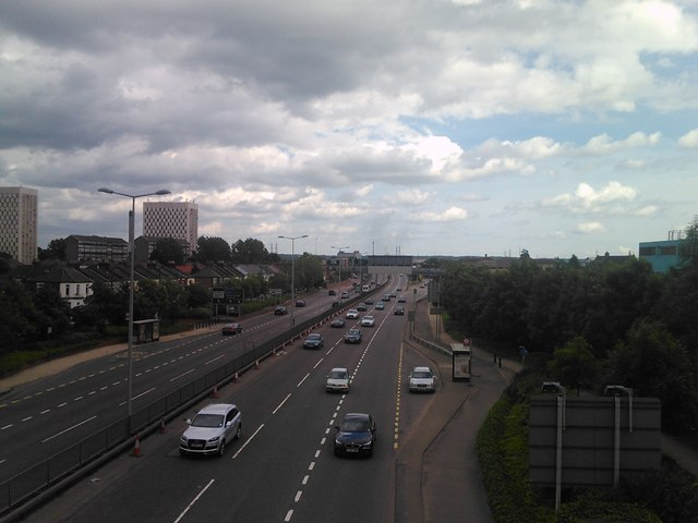 View down the A406 towards Walthamstow