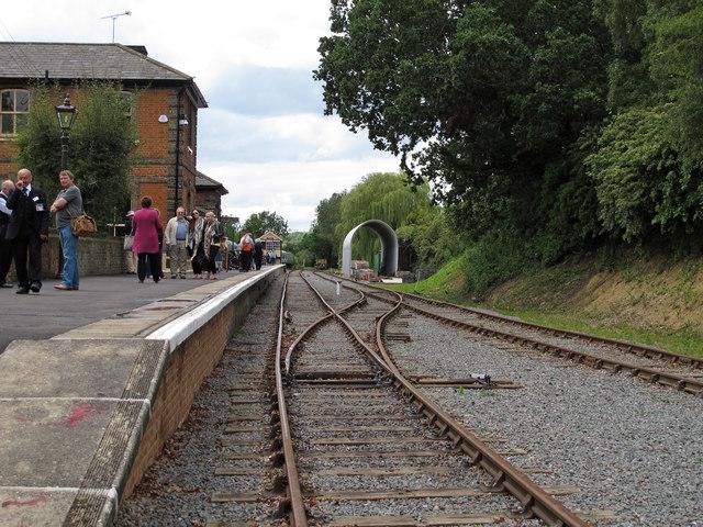Track & platform, Ongar Station