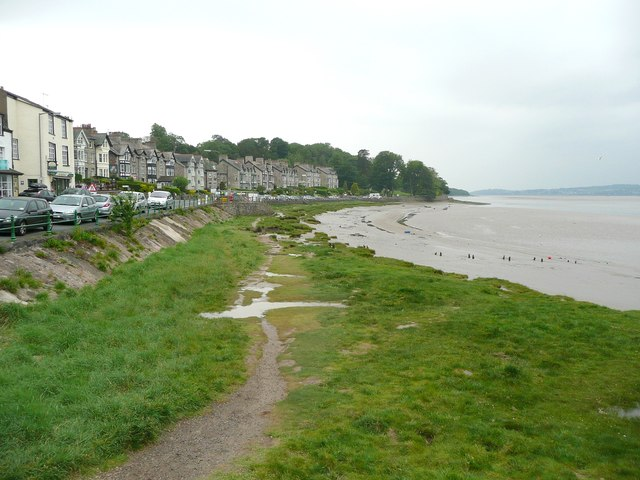 View along the shore, Arnside