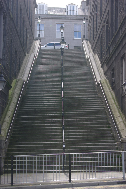 Steps to Crown Terrace, Aberdeen