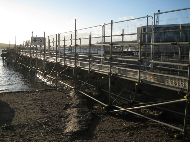 Temporary access, Fish Quay, Teignmouth
