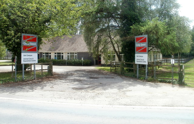 Entrance to Equestrian Centre and Animal Care Centre, Rhadyr