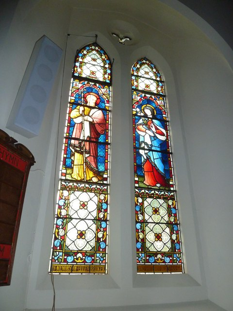 St Bartholomew, Haslemere: stained glass window (8)