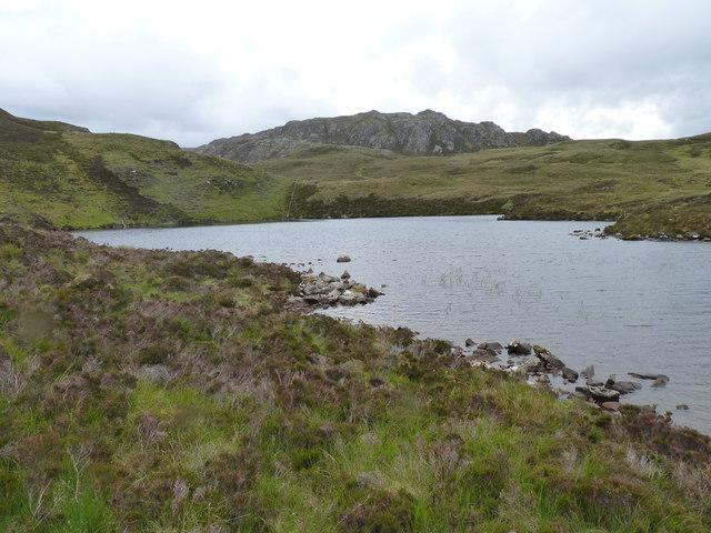 Loch Coire an Daimh with Beinn a' Chuirn behind