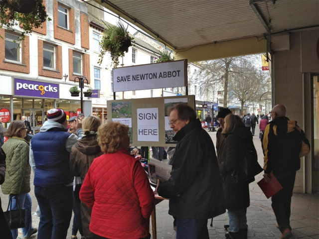 Civic society collecting signatures, Courtenay Street