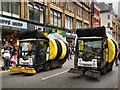 SJ8398 : Decorated Roadsweepers, Deansgate by David Dixon