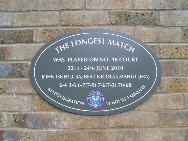 The Longest Match Plaque at Wimbledon Tennis Club