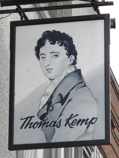 Sign for The Thomas Kemp, St. George's Road, BN2