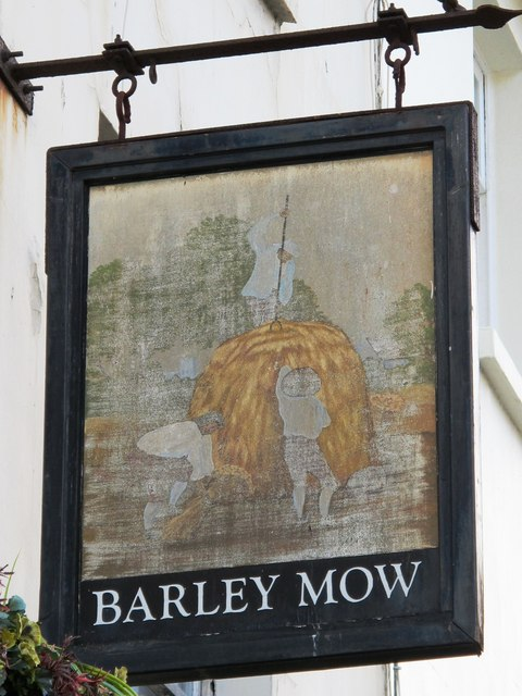 Sign for The Barley Mow, St. George's Road, BN2