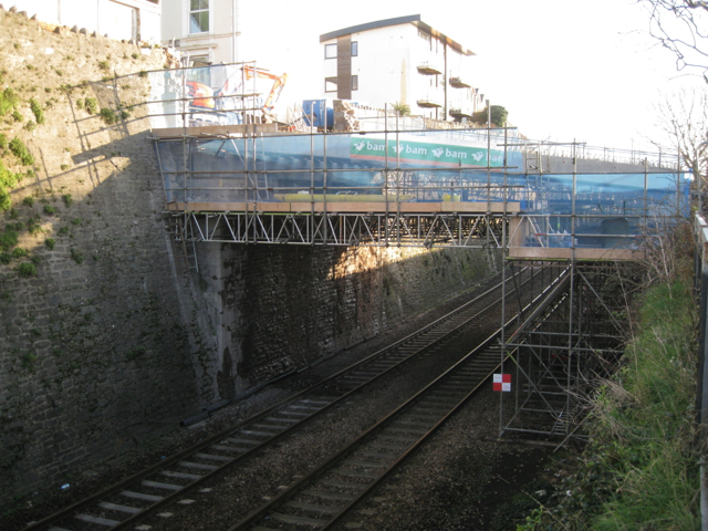 Temporary bridge, Fore Street