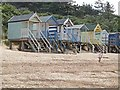 TF9145 : Beach huts at Wells-next-the-Sea by Oliver Dixon