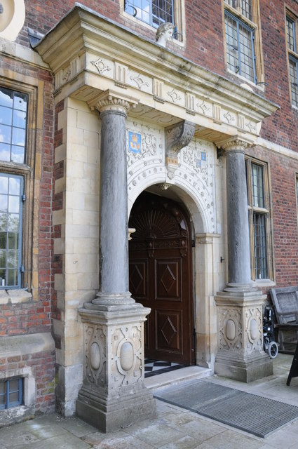 Door and entrance to Ham House