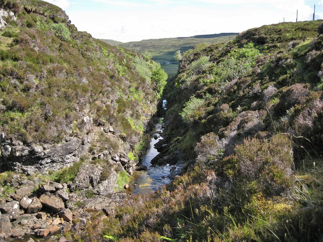 Allt Dearg gorge, crossing point