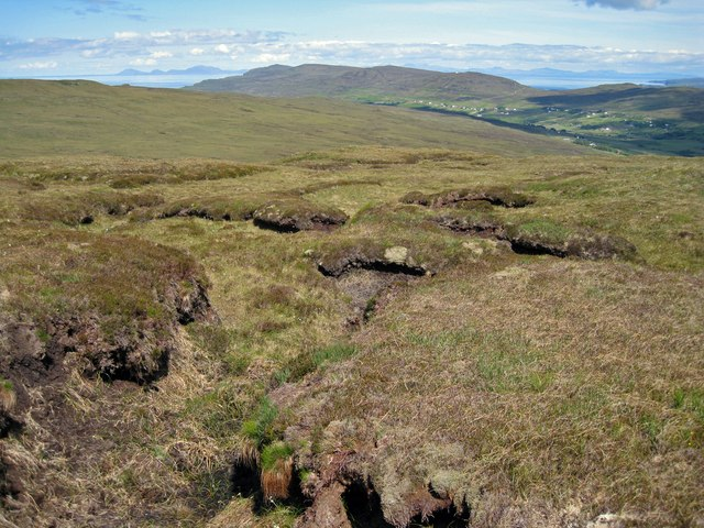 Peat hags on Ben Corkeval