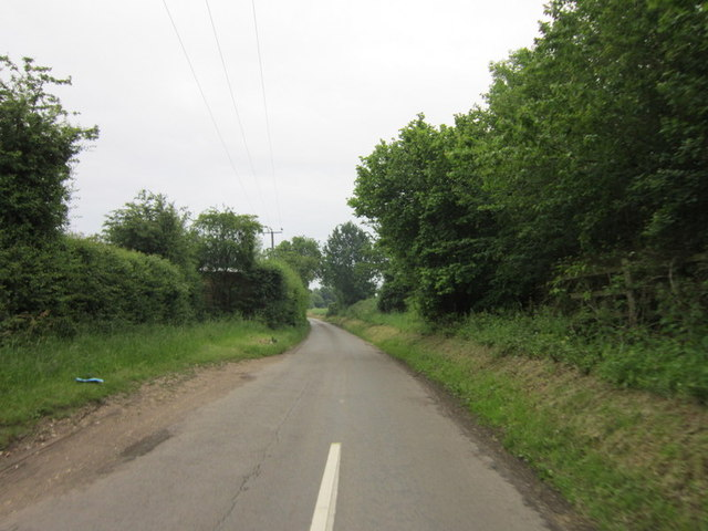 Looking south down Bottom House Lane