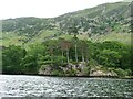 NY3917 : Rocky headland south of Blowick, Ullswater by Christine Johnstone