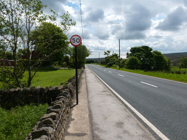 The A57 at Hollow Meadows