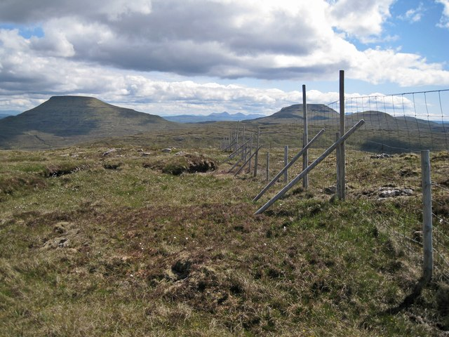 Deer fence on the summit
