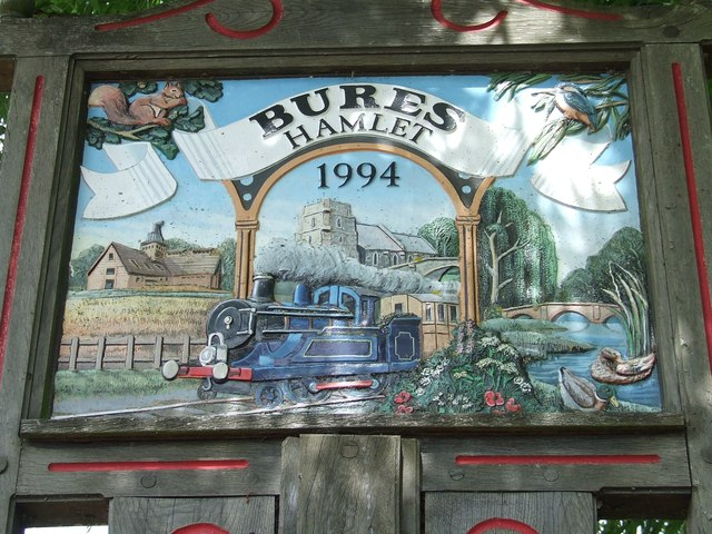 Bures Village Sign