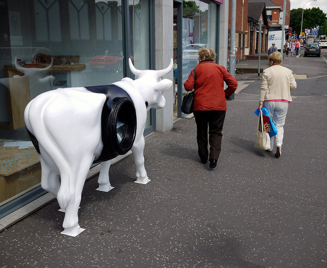 'CowParade' cow, Belfast