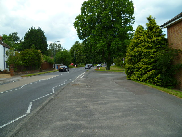 One of the junctions of Ashbury Drive with Hawley Road (B32372)