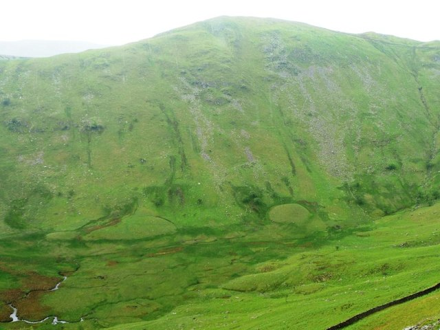 Steep eastern side of upper Bannerdale