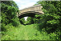 SP8231 : Bridge taking Salden lane over the disused railway by Philip Jeffrey