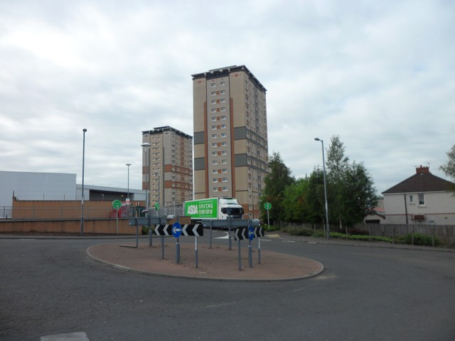 High flats behind Asda, Motherwell