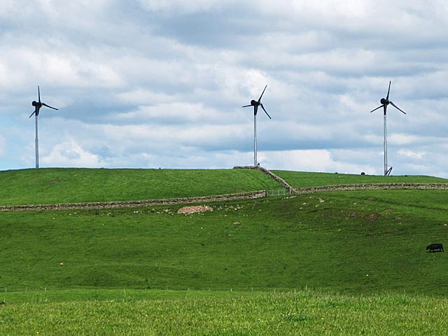 Wind Turbines at Mossplat near Forth