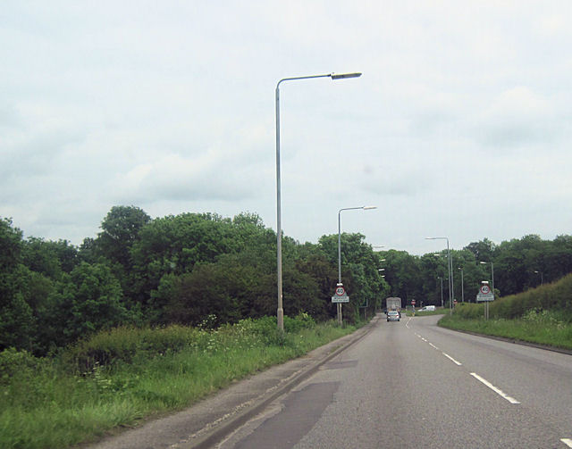 A619 running into Worksop at The Croft at the A60 junction