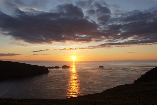 Sunset beyond Muckle Flugga on the longest day