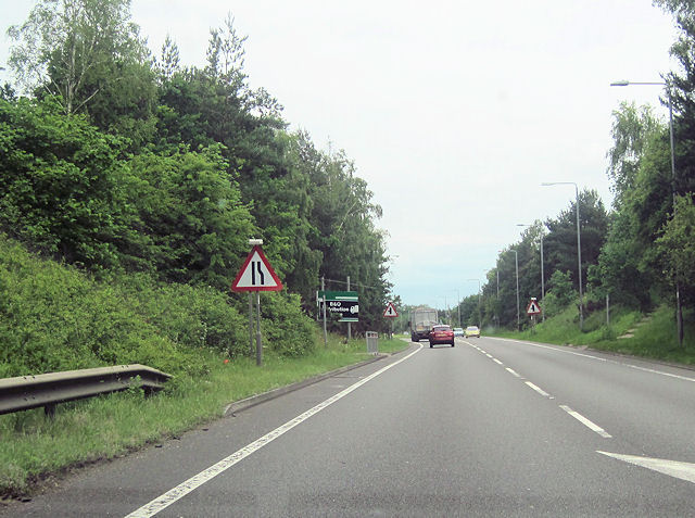 A57 approaching Windmill wood
