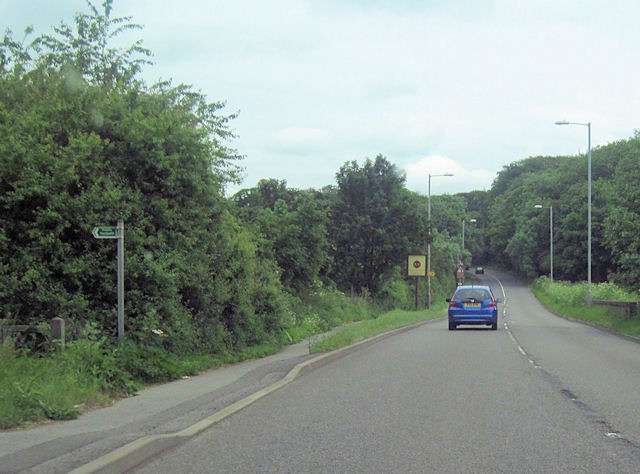 A620 entering Retford from the west
