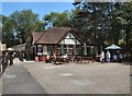 TQ8833 : Cafe at Tenterden Town Station by Paul Gillett