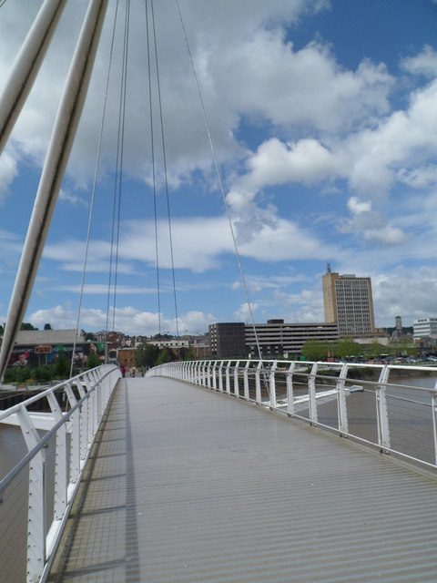 Across Newport City Footbridge