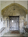 TA0183 : The ancient south door of St Martin's, Seamer by John S Turner