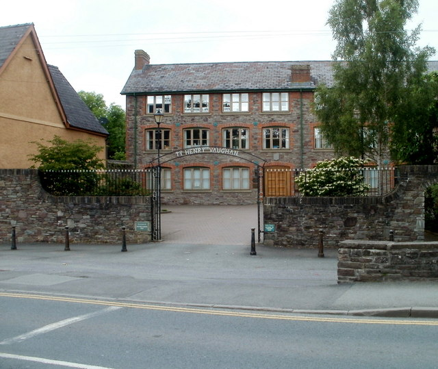 Entrance to Ty Henry Vaughan, Brecon