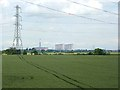 SK8071 : Landscape with power lines by Oliver Dixon
