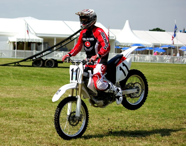 Motorcycle Stunt Riding at the Cheshire Show