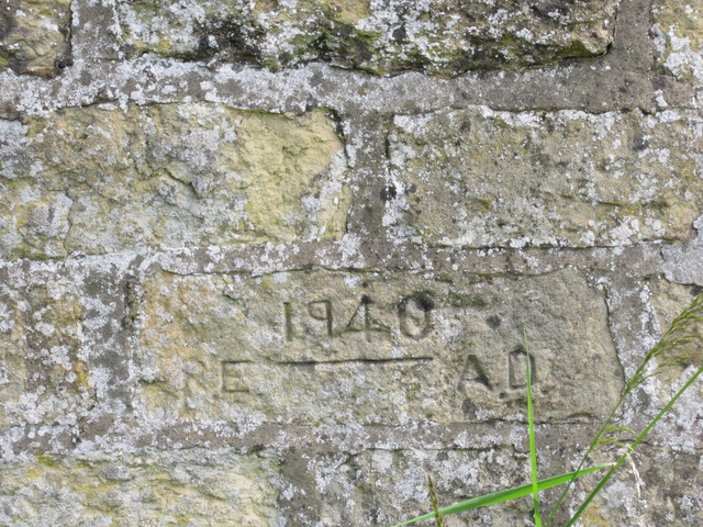 Inscription on the loop-holed wall in Seamer