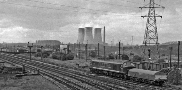 Railway and industrial panorama at east end of Washwood Heath Sidings