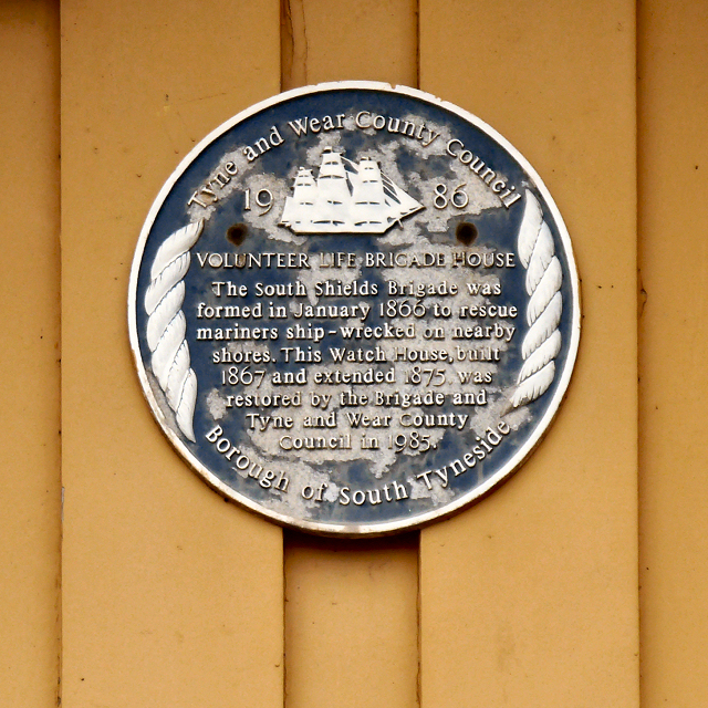 Life Brigade Blue Plaque