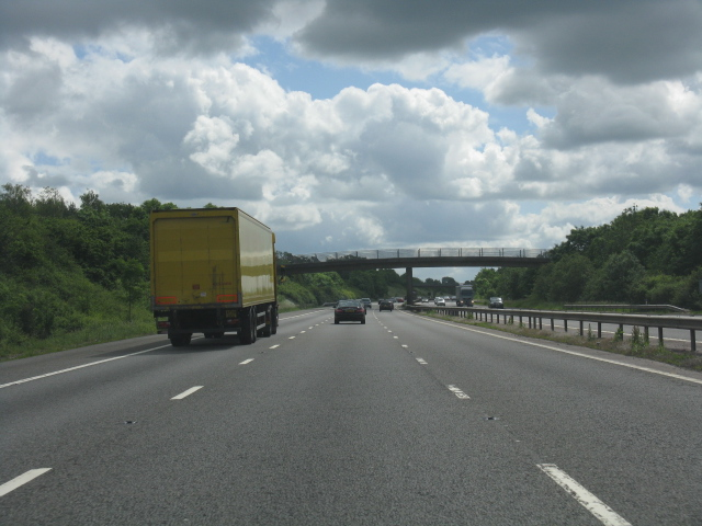 M40 motorway south of Lapworth