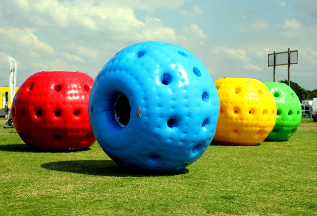 Zorbing at the Cheshire Show