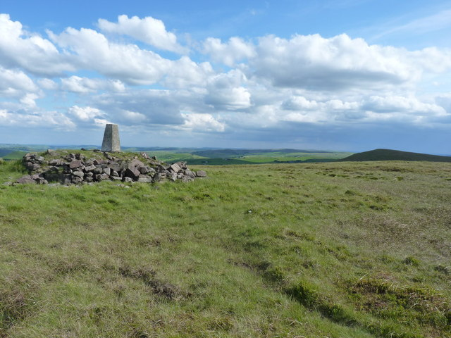 Axe Edge trig, looking south