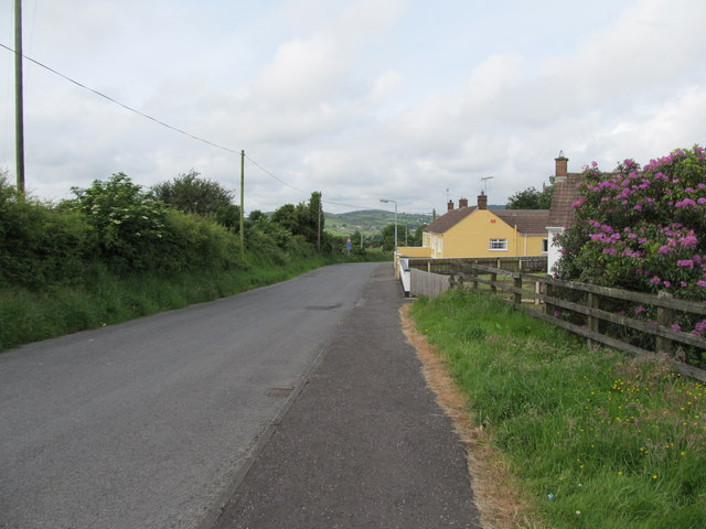 The northern end of Kilnasaggart Road