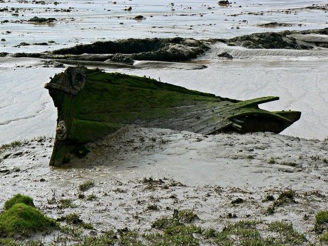 Derelict boat, Severn estuary, Purton, Gloucestershire