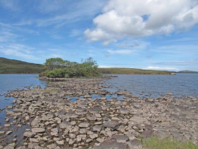 Island on Loch Osgaig